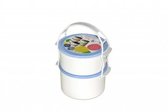 Plastic lunch box set 1x1 l + 1x1,3 l