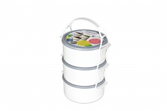 Plastic lunch box set 3X1,5 l