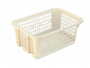 Large stackable plastic basket perforated 300x210x120mm
