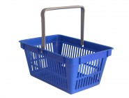Plastic shopping basket with one handle
