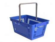 Plastic shopping basket with one handle (space for print)